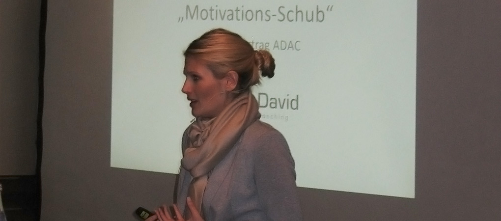 Motivations-Schub durch Rednerin Julia David